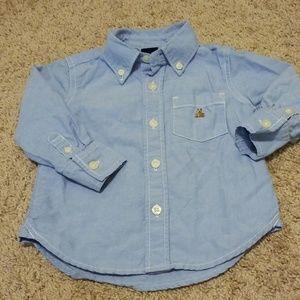 Baby Gap Blue Oxford Button down shirt 12-18 month